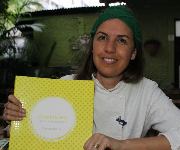 Morena Leite apresenta seu novo livro Santinho, com receitas de afeto ou afeto em receitas