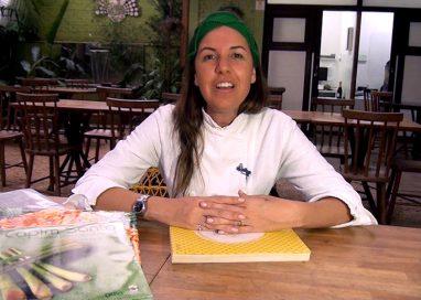 A chef Morena Leite e os livros